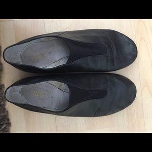 Bioch Black Jazz Dancing Flat Shoes